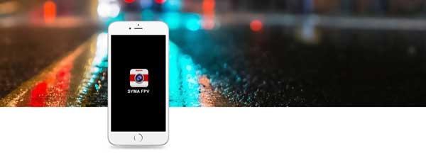 امکان ارسال زنده تصاویر بر روی گوشی همراه پهپاد یا کوادکوپتر دوربین دار سایما syma X8SW با ارسال زنده تصویر
