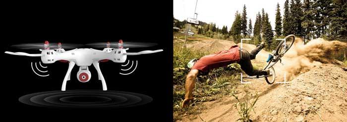 تنظیم ارتفاع با استفاده از بارومتر پهپاد یا کوادکوپتر دوربین دار سایما syma X8SW با ارسال زنده تصویر