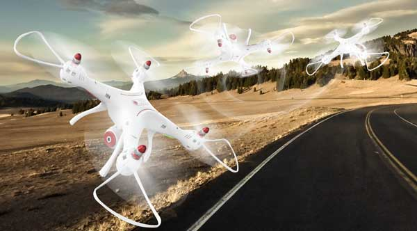 چرخش 360 درجه در تمام جهات پهپاد یا کوادکوپتر syma X8 pro دارای GPS