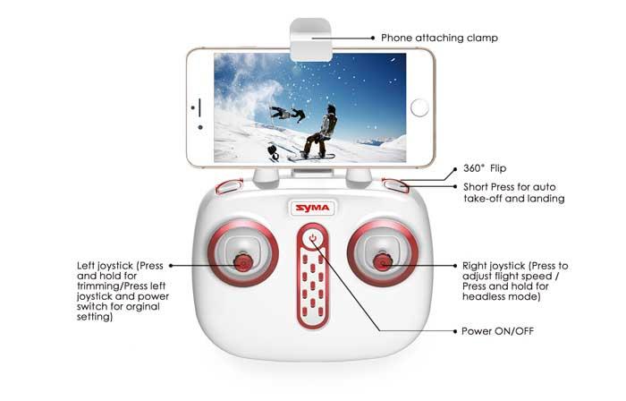 کوادکوپتر دوربین دار syma X56W با بازوهای تاشو