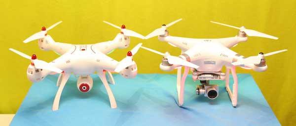 ابعاد متناسب پهپاد یا کوادکوپتر دوربین دار سایما syma X8SC