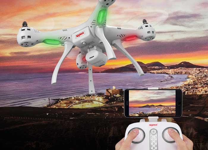 قابلیت شناوری دقیق کوادکوپتر در آسمان پهپاد یا کوادکوپتر syma X8 pro دارای GPS