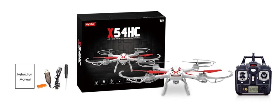 بسته محصول کوادکوپتر Syma X54HC شامل