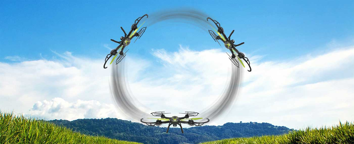 انجام حرکات نمایشی در هوا، لذت پرواز را برای خلبان و بینندگان دو چندان میکند. کوادکوپتر X54HW قادر است تنها با استفاده از دو دکمه روی ریموت کنترل چرخش 360 درجهی بسیار زیبا و چشمگیری را به نمایش بگذارد. پیادهسازی این چرخش در تمام جهات ممکن بوده و برای تمام افراد حتی کاربران مبتدی بسیار ساده میباشد.