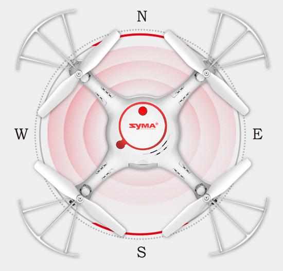 مد هدلس پهپاد یا کواد کوپتر Syma X5UC