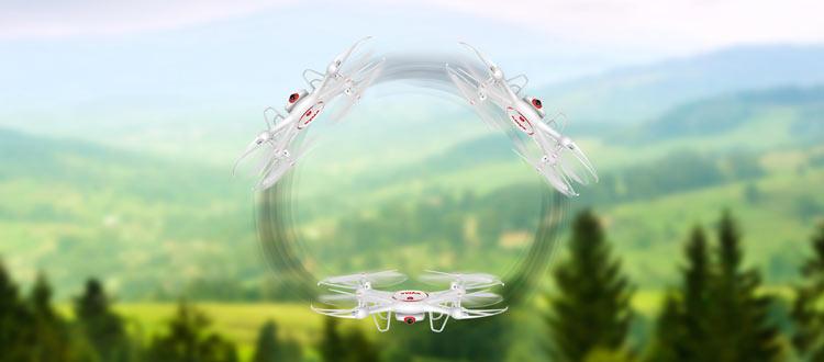 چرخش 360 درجه پهپاد یا کواد کوپتر Syma X5UC