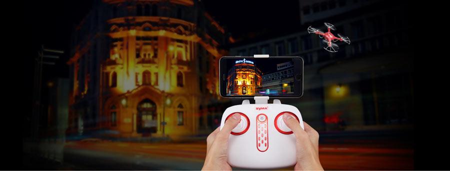 دوربین پهپاد یا کوادکوپتر Syma X5UW با ارسال زنده تصویر