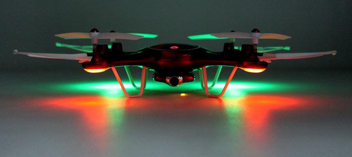 چراغهای جهت نما پهپاد یا کوادکوپتر Syma X5UW با ارسال زنده تصویر