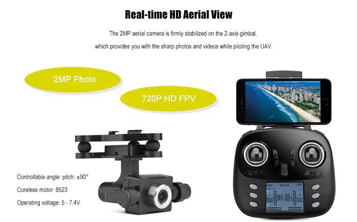 خرید کواد کوپتر wltoys Q696-E  با دوربین و گیمبال | خرید پهپاد | خرید پهباد